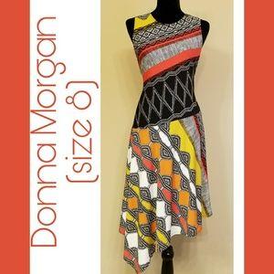 Donna Morgan Assymetrical Dress size 8